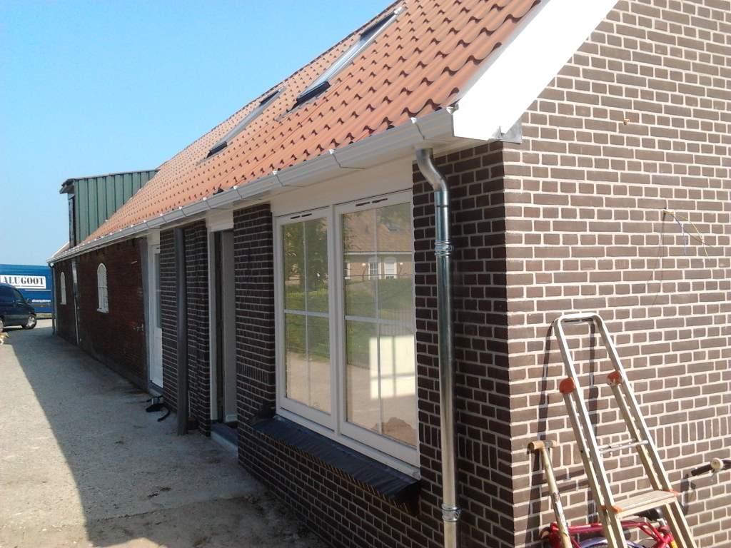 huis aluminium dakgoot wit afvoer zink 3