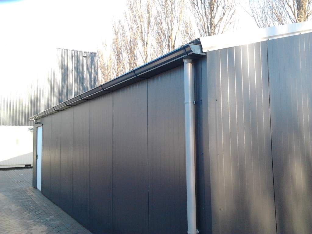 loods aluminium dakgoot antraciet afvoer pvc 4