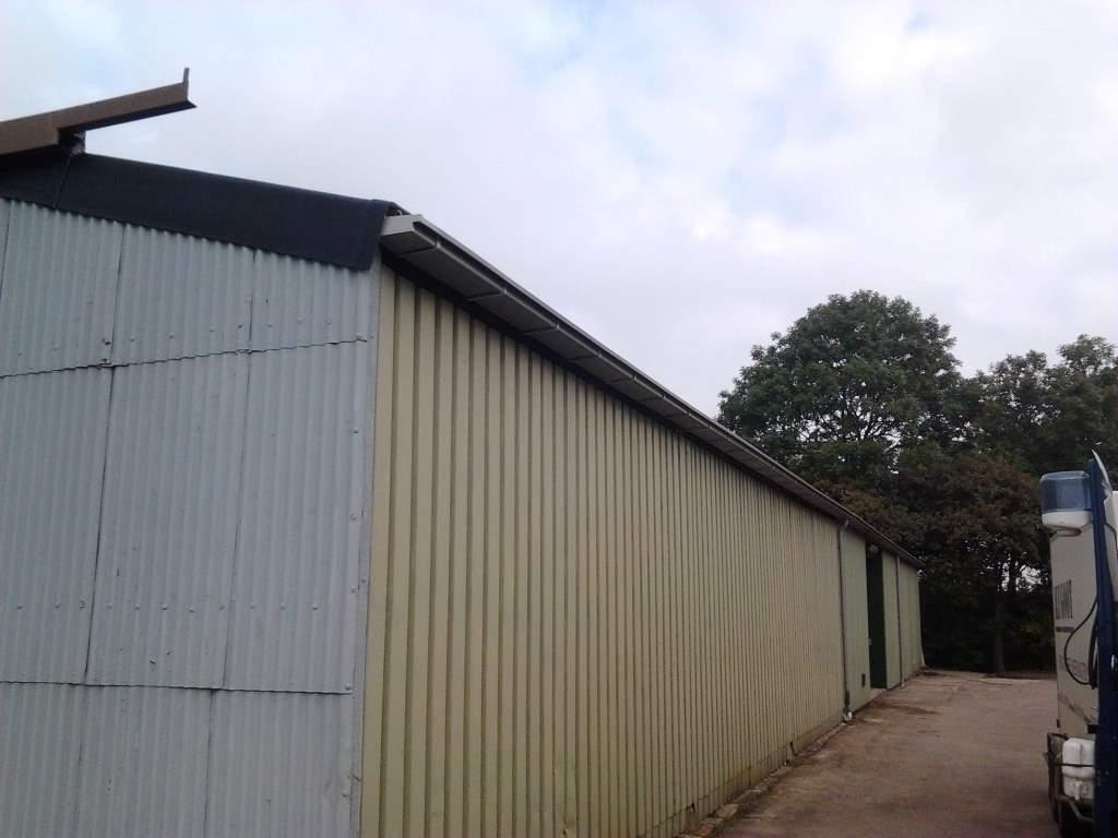 loods aluminium dakgoot grijs afvoer pvc 3