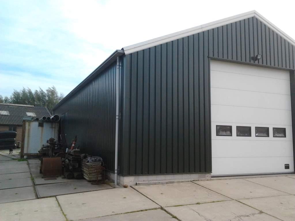 type 205 loods aluminium dakgoot grijs afvoer pvc 5